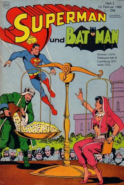 Cover for Superman (Egmont Ehapa, 1966 series) #3/1968