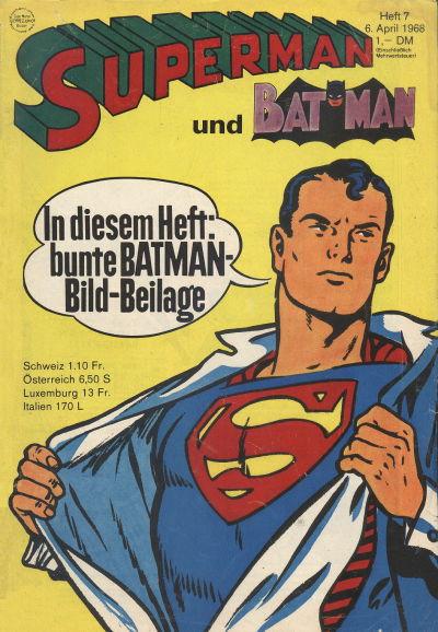 Cover for Superman (Egmont Ehapa, 1966 series) #7/1968