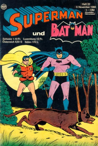 Cover for Superman (Egmont Ehapa, 1966 series) #22/1968