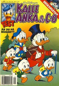 Cover Thumbnail for Kalle Anka & C:o (Serieförlaget [1980-talet], 1992 series) #41/1995