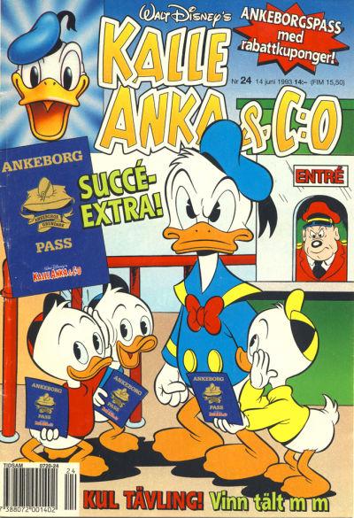 Cover for Kalle Anka & C:o (Serieförlaget [1980-talet], 1992 series) #24/1993