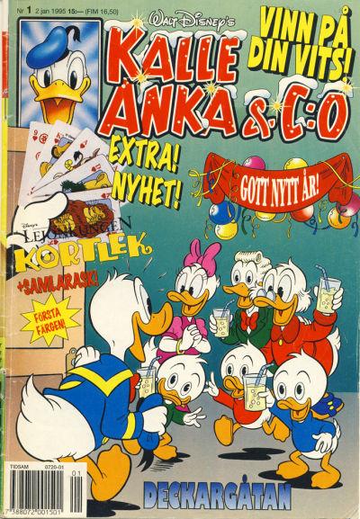 Cover for Kalle Anka & C:o (Serieförlaget [1980-talet], 1992 series) #1/1995