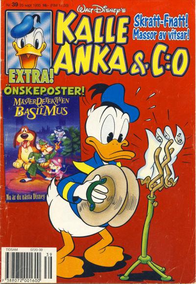 Cover for Kalle Anka & C:o (Serieförlaget [1980-talet], 1992 series) #39/1995