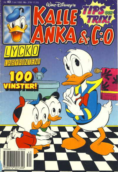 Cover for Kalle Anka & C:o (Serieförlaget [1980-talet], 1992 series) #40/1995