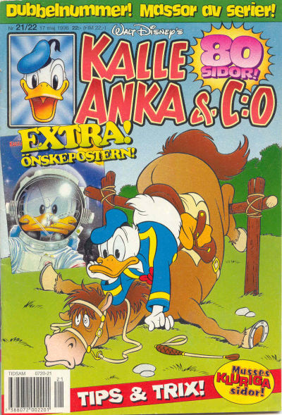 Cover for Kalle Anka & C:o (Serieförlaget [1980-talet], 1992 series) #21-22/1996