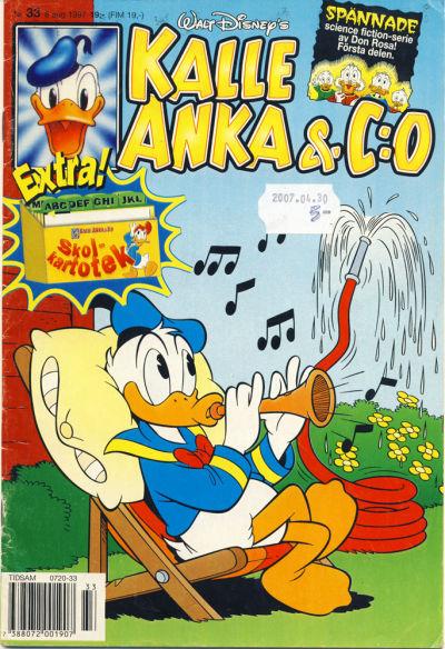 Cover for Kalle Anka & C:o (Serieförlaget [1980-talet], 1992 series) #33/1997