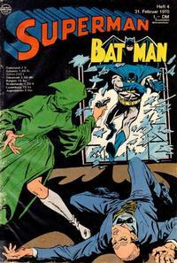 Cover Thumbnail for Superman (Egmont Ehapa, 1966 series) #4/1970