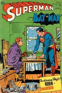 Cover Thumbnail for Superman (Egmont Ehapa, 1966 series) #12/1970