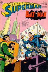 Cover Thumbnail for Superman (Egmont Ehapa, 1966 series) #13/1970
