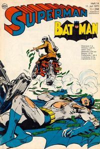 Cover Thumbnail for Superman (Egmont Ehapa, 1966 series) #14/1970