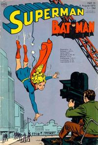 Cover Thumbnail for Superman (Egmont Ehapa, 1966 series) #16/1970