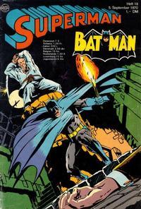 Cover Thumbnail for Superman (Egmont Ehapa, 1966 series) #18/1970