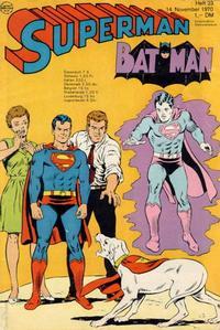 Cover Thumbnail for Superman (Egmont Ehapa, 1966 series) #23/1970