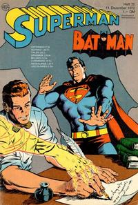 Cover Thumbnail for Superman (Egmont Ehapa, 1966 series) #25/1970