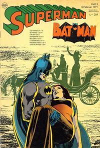 Cover Thumbnail for Superman (Egmont Ehapa, 1966 series) #3/1971