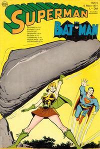 Cover Thumbnail for Superman (Egmont Ehapa, 1966 series) #5/1971