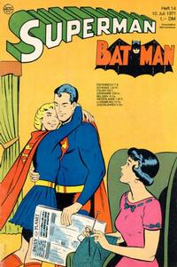 Cover Thumbnail for Superman (Egmont Ehapa, 1966 series) #14/1971