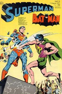 Cover Thumbnail for Superman (Egmont Ehapa, 1966 series) #16/1971