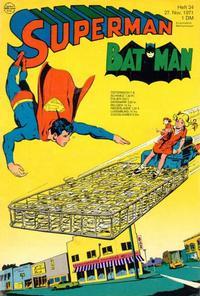 Cover Thumbnail for Superman (Egmont Ehapa, 1966 series) #24/1971