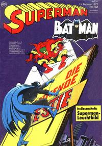 Cover Thumbnail for Superman (Egmont Ehapa, 1966 series) #4/1972