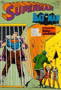 Cover Thumbnail for Superman (Egmont Ehapa, 1966 series) #5/1972