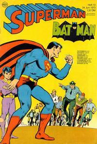 Cover Thumbnail for Superman (Egmont Ehapa, 1966 series) #13/1972