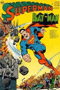 Cover Thumbnail for Superman (Egmont Ehapa, 1966 series) #15/1972