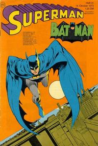 Cover Thumbnail for Superman (Egmont Ehapa, 1966 series) #21/1972