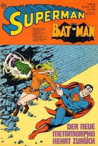Cover Thumbnail for Superman (Egmont Ehapa, 1966 series) #24/1972