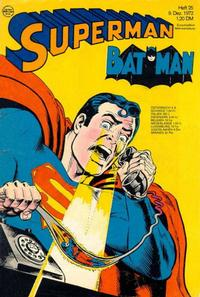 Cover Thumbnail for Superman (Egmont Ehapa, 1966 series) #25/1972