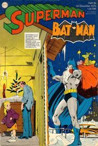 Cover Thumbnail for Superman (Egmont Ehapa, 1966 series) #26/1972