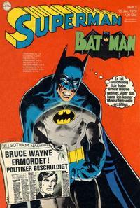 Cover Thumbnail for Superman (Egmont Ehapa, 1966 series) #2/1973