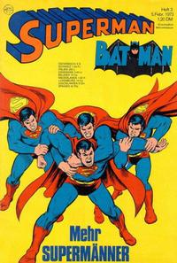 Cover Thumbnail for Superman (Egmont Ehapa, 1966 series) #3/1973