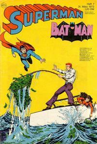 Cover Thumbnail for Superman (Egmont Ehapa, 1966 series) #7/1973