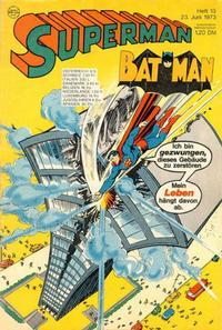 Cover Thumbnail for Superman (Egmont Ehapa, 1966 series) #13/1973
