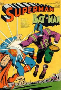 Cover Thumbnail for Superman (Egmont Ehapa, 1966 series) #19/1973