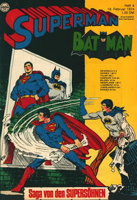 Cover Thumbnail for Superman (Egmont Ehapa, 1966 series) #4/1974