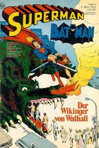 Cover Thumbnail for Superman (Egmont Ehapa, 1966 series) #5/1974