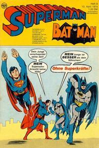 Cover Thumbnail for Superman (Egmont Ehapa, 1966 series) #8/1974