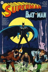 Cover Thumbnail for Superman (Egmont Ehapa, 1966 series) #10/1974