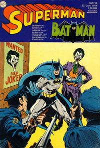 Cover Thumbnail for Superman (Egmont Ehapa, 1966 series) #13/1974