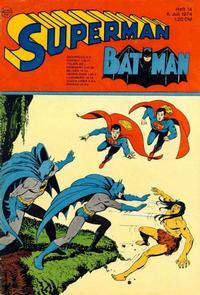 Cover Thumbnail for Superman (Egmont Ehapa, 1966 series) #14/1974