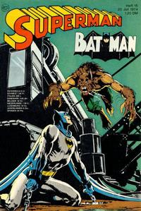 Cover Thumbnail for Superman (Egmont Ehapa, 1966 series) #15/1974