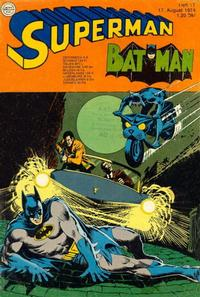 Cover Thumbnail for Superman (Egmont Ehapa, 1966 series) #17/1974