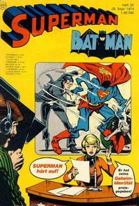 Cover Thumbnail for Superman (Egmont Ehapa, 1966 series) #20/1974