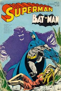 Cover Thumbnail for Superman (Egmont Ehapa, 1966 series) #21/1974