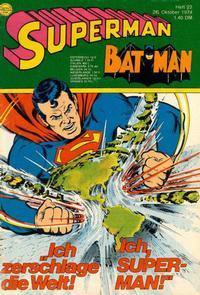 Cover Thumbnail for Superman (Egmont Ehapa, 1966 series) #22/1974