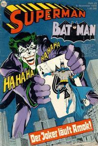 Cover Thumbnail for Superman (Egmont Ehapa, 1966 series) #23/1974