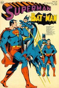 Cover Thumbnail for Superman (Egmont Ehapa, 1966 series) #24/1974