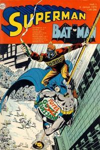 Cover Thumbnail for Superman (Egmont Ehapa, 1966 series) #1/1975
